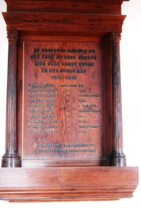 The Memorial in the Baptist Church, Milton Road.