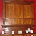 Wokingham's War Memorial is placed inside the Wokingham Town Hall