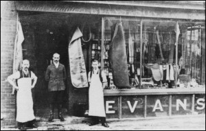 This is probably the photo Edna Goatley was describing. Charles Rideout is the young man wearing the apron on the right hand side. Circa 1912