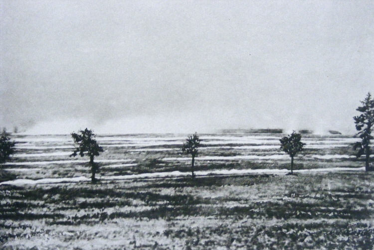 Gas attack at Loos on the 25th September 1915