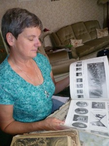 Always there to help others: Sarah looks through Mrs Edna Goatley's WW1 records