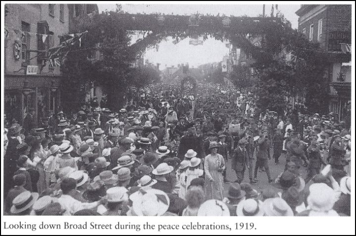 Peace 1919 Wokingham Broad Street