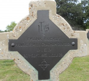 frank Buckle's grave in Haslar, near Gosport