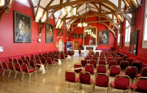 Interior of Wokingham Town Council's Great Hall.