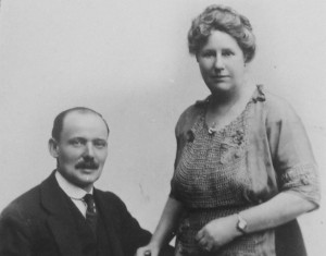Ada, with second husband Charles. Ada's first three sons were half German, not a good time in the context of the Great War.
