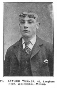28th August 1914. It was during the Retreat from Mons that Arthur Turner became Wokingham's first fatality of the Great War (click on picture to read his biography)