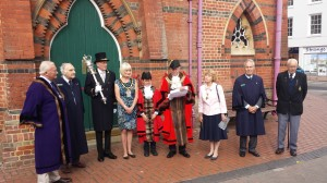 The Mayor opens Wokingham's 2014 Heritage Day, dedicated to the Great War Cententary.
