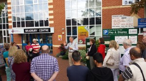 Local Historian Trevor Ottlewski takes visitors on a tour of Wokingham.