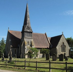 The picture perfect St James' church of Barkham in Berkshire