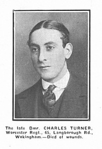 Charles Turner, Arthur's brother, in 1917 was also killed.
