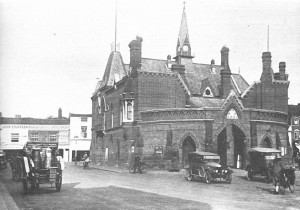 Town Hall 1920's The entrance between the two cars leads to the jail which was known as the Dark Hole