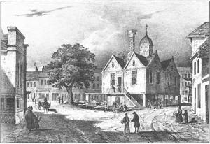 Town Hall circa 1832 demolished 1858