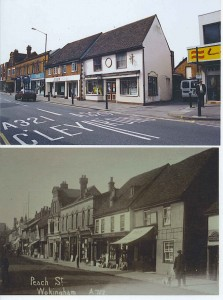 George Henry Price's shop 'Now and then'. Lower photo thanks to Goatley Collection