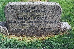 George and Emma Price headstone
