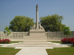The Indian Memorial at Neuve Chapelle commemorates over 4,700 Indian soldiers and labourers who lost their lives on the Western Front during the First World War and have no known graves.