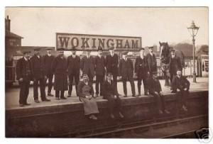 Wokingham Station. Staff plus horse. Photo: Goatley Collection