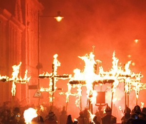 Lewes's bonfire is a huge occasion with 3,000 performers alone and 80,000 visitors.