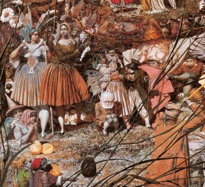 'The Fairy Feller's Master Stroke' took Richard Dadd 9 years to paint. This is only a part of the overall canvas